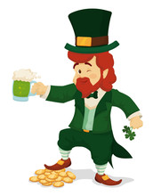 Leprechaun Celebrating St. Pat...