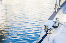 Luxus Motorboot Yacht Hafen Ankern