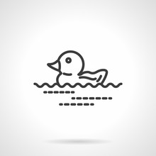 Rubber Duck Icon Black Line Design Vector Icon