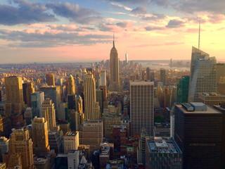 Manhattan al tramonto. New York.
