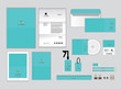 corporate identity template for your business includes CD Cover, Business Card, folder, ruler, Envelope and Letter Head Designs Q