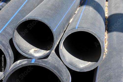Valokuva  Stacked PVC pipe