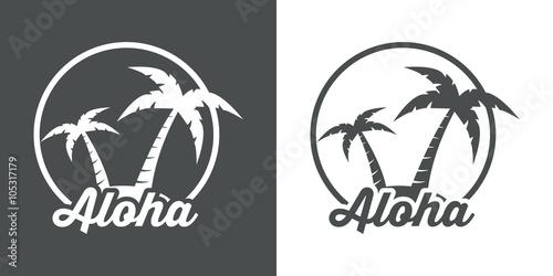 Icono plano Aloha #1 Canvas Print