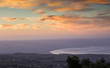 View from Galilee Mountains to Galilee Sea, Kinneret, Israel. Go