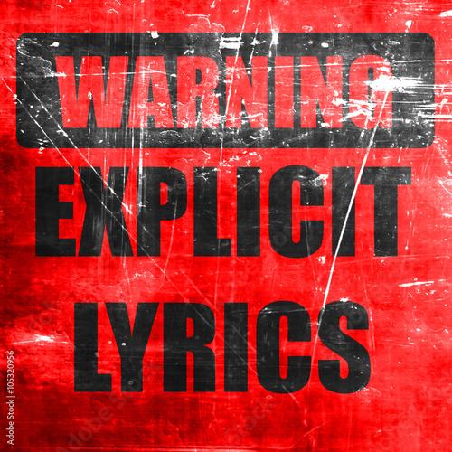 Photo  Explicit lyrics sign