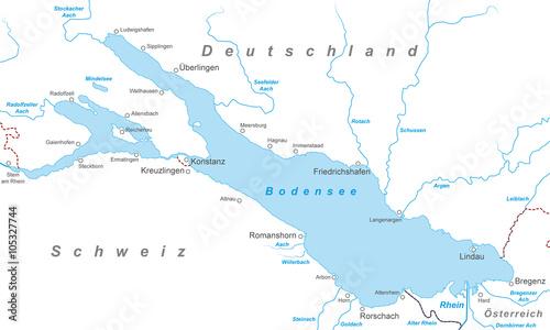 Bodensee Karte Schweiz.Der Bodensee Karte In Weiss Kaufen Sie Diese Vektorgrafik