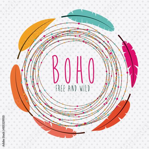 Foto auf AluDibond Boho-Stil boho style design