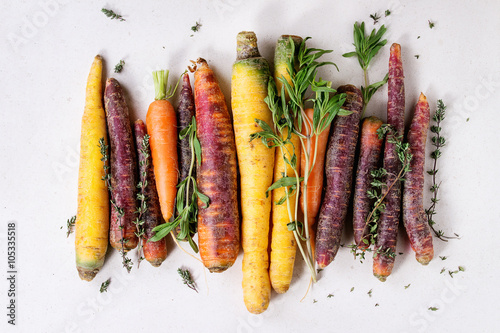 Foto Colorful raw carrots