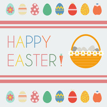 Happy Easter Greeting Card. Ea...