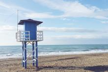Lifeguard Tower, Malaga, Andalucia, Spain