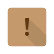 Flat style Exclamation Mark web app icon on light brown backgrou