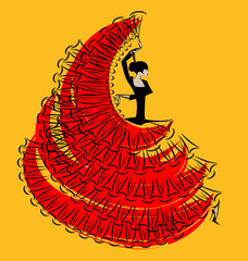 Obraz na Plexired-yellow image of flamenco