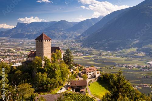 Fotografie, Obraz  Castello di Tirolo, Sud Tirol, Bolzano