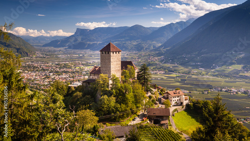 Castello di Tirolo, Sud Tirol, Bolzano Fotobehang