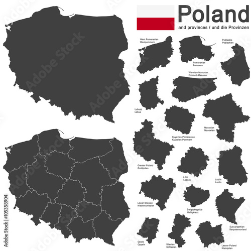 Fotografía  country Poland and voivodeships