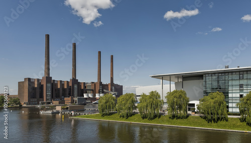 VW Werk Wolfsburg Panorama Canvas Print
