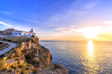 Albir Lighthouse Beautifully Located On Top Of A Cliff