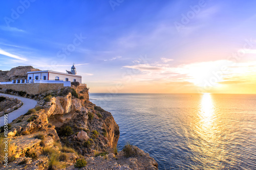 Photo  Albir lighthouse beautifully located on top of a cliff