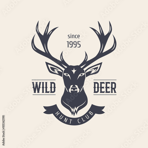 Deer Head Premium Retro Vintage Symbols Design Element In Vintage