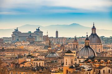 Fototapeta Rzym View of Rome from Castel Sant'Angelo