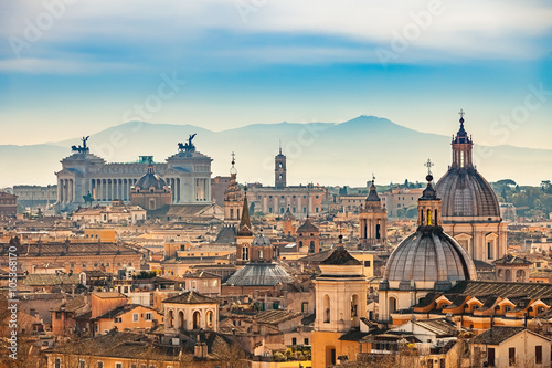 Canvas Print View of Rome from Castel Sant'Angelo