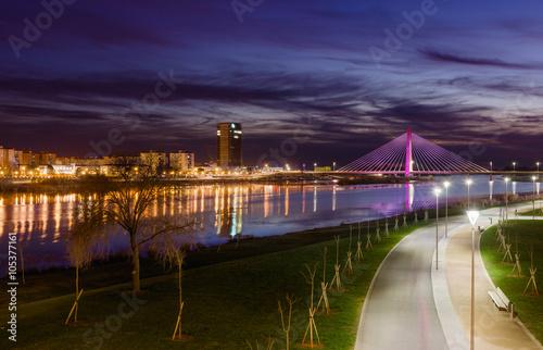Night View Of Badajoz