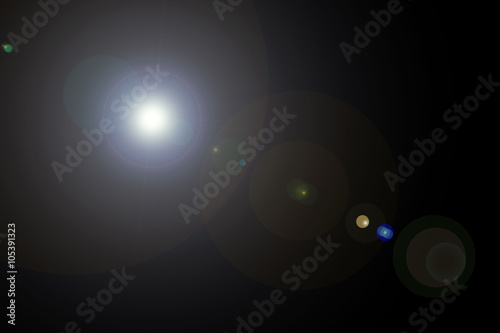 Photo  Camera lens flare dark background and lenses reflections