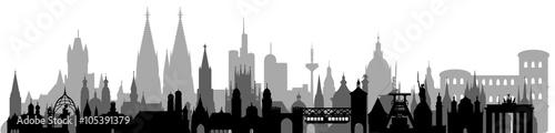 Deutschland Skyline // detailliert // Vektor