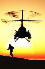 FototapetaThe helicopter