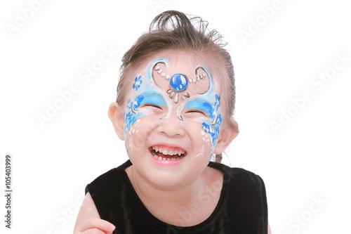 Fototapeta Asian little girl with painted face
