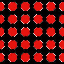 Polka Dot Chess Board Grid Red Black Background Vector Illustration