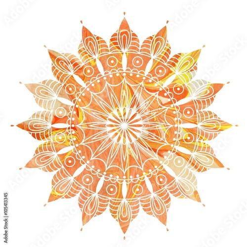 Photo  Mandala  colorful watercolor