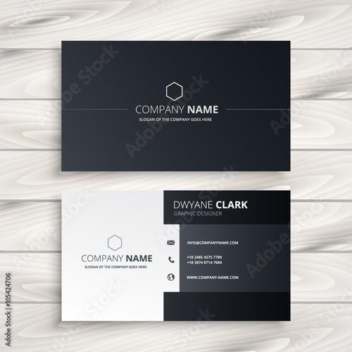 Valokuva  black and white business card