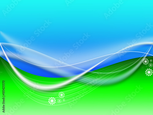 Spoed Foto op Canvas Turkoois Green and Blue abstract Spring and summer background