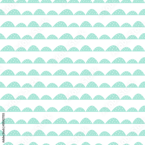 Photo  Scandinavian seamless mint pattern in hand drawn style