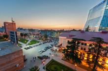 BATUMI  - JULY 3: Beautiful Evening View On Batumi Square In Bat