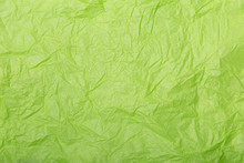 Lime Green Wrinkled Paper Text...