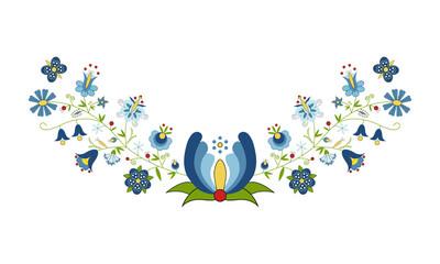 Panel Szklany Podświetlane Folklor Polski folklor - wzór kaszubski