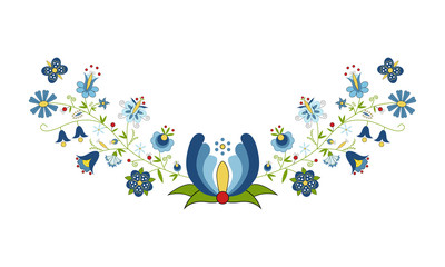 Naklejka Folklor Polski folklor - wzór kaszubski