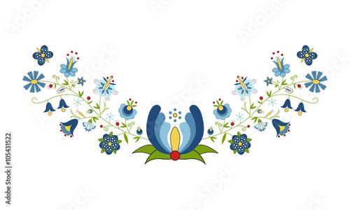 Polski folklor - wzór kaszubski - 105431522