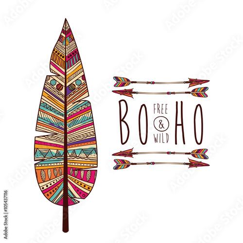 Aluminium Prints Boho Style boho style design