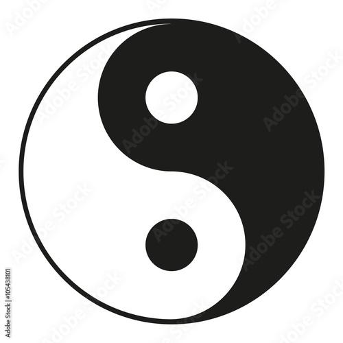 Vászonkép  Yin Yang Vector