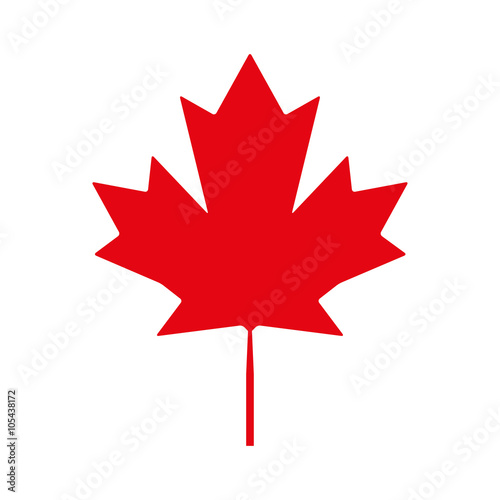 Photo  Canadian maple leaf vector Icon