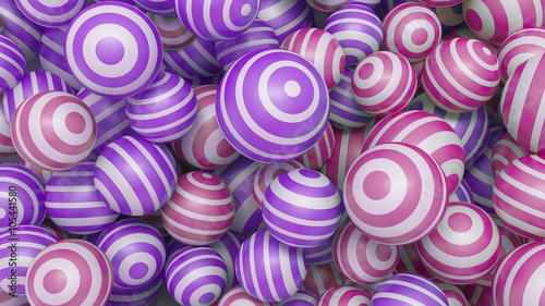 abstrakcjonistyczny-3d-tlo-z-barwionymi-pilkami-purpurowymi-i-rozowymi