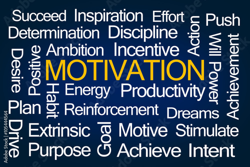 Fotografie, Obraz  Motivation Word Cloud