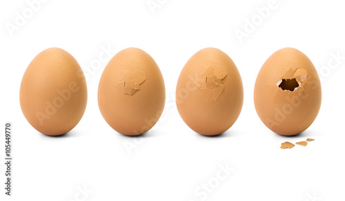 Fototapeta Broken egg step obraz