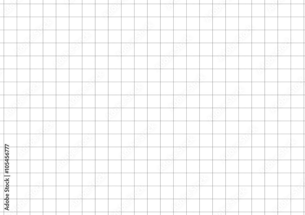 Fototapety, obrazy: Black Grid White Background Vector Illustration