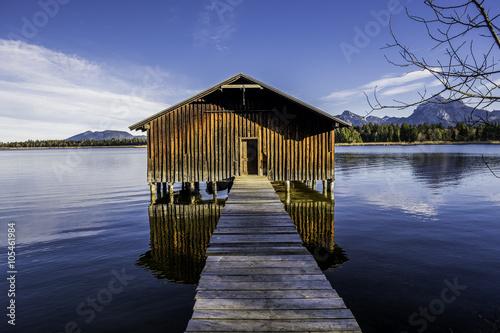 Juliste  Bootshaus am Hopfensee