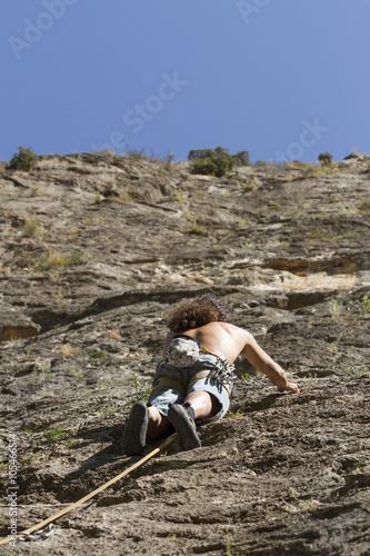 Foto op Plexiglas Alpinisme Bergsklättring i Montanejos