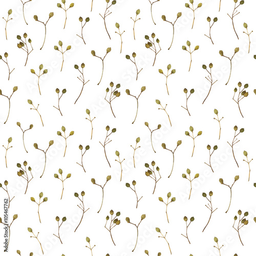 Cotton fabric Seamless floral pattern. Background with a linden branch.